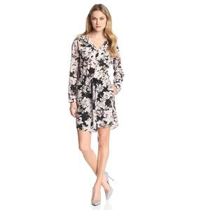 Rebecca Taylor Frost Floral 100% Silk Dress